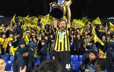 Украинец Тимощук выиграл с командой Кубок Казахстана