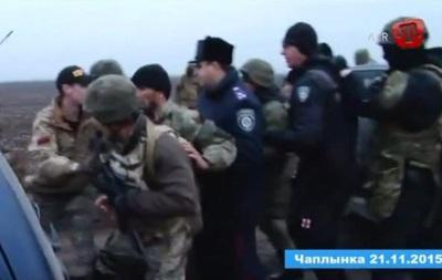 Опубліковане відео штурму бази з блокади Криму