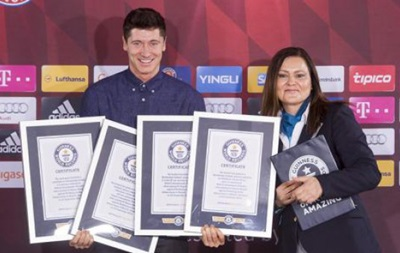Нападающий Баварии попал в Книгу рекордов Гиннесса