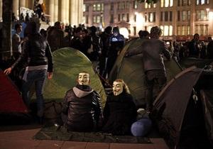 Полиция снесла палаточный городок движения Захвати Лондон