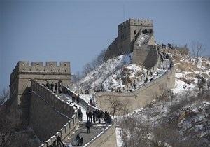 Часть Великой китайской стены обвалилась из-за ливней