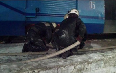 В Сумской области загорелся трамвай с пассажирами