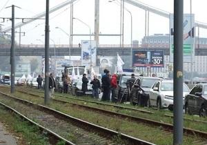 В Украине прошел автопробег против некачественного топлива