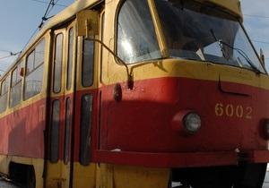В Киеве без предупреждения сорвали движение трамваев по пяти маршрутам