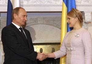 Путин: Тимошенко не возражала против пролонгации пребывания российского флота в Крыму