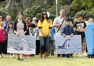 В Новой Зеландии 400 человек пришли проститься  со  знаменитым дельфином