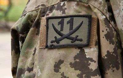 Бойцы батальона Киевская Русь пикетируют Генштаб