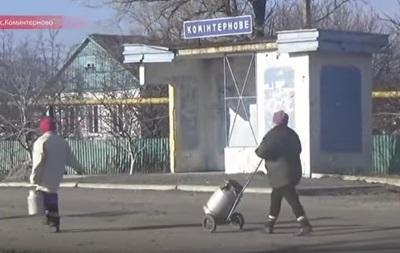 Российские журналисты показали видео из Коминтерново