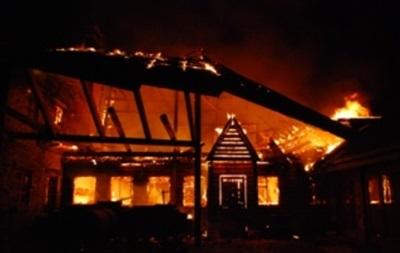 Под Львовом сгорел ресторан-музей