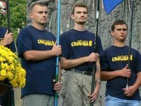 ВО Свобода: Милиция мешает установке сцены на Майдане для концерта в честь УПА