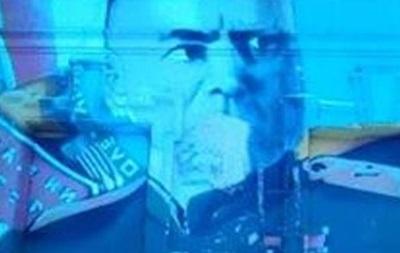 В Харькове испортили портрет маршала Жукова