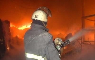 В Киеве горело здание Главного следственного управления ГПУ