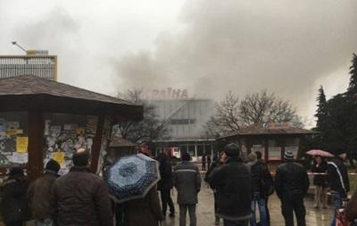 Пожар в ужгородском ТЦ локализован