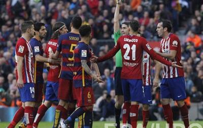 Игрока Атлетико дисквалифицировали на три матча за фол против Месси