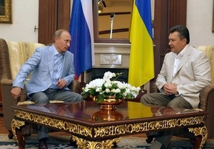 Путин и Янукович так и не обсудили газовый вопрос