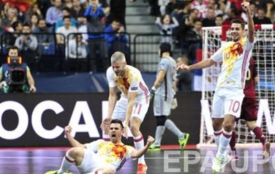 Сборная Испании разгромила Россию в финале Евро-2016 по футзалу