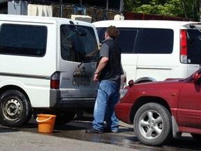 В Киеве за мытье машин в неположенном месте будут штрафовать на 255 грн