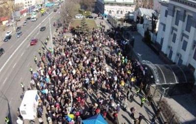 Пикет посольства РФ в поддержку Савченко: видео с воздуха