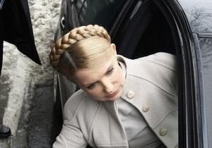 Тимошенко заявила, что из-за кортежа Януковича она по 40 минут стоит в заторах