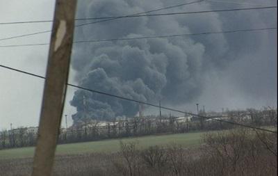 На Луганщине взорвались цистерны с топливом