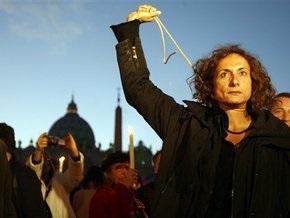 На границе Ватикана прошла демонстрация в поддержку гомосексуализма