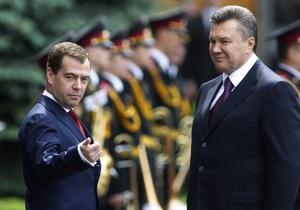 Янукович и Медведев договорились о сотрудничестве между ЧФ РФ и ВМС Украины