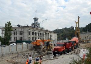 Бригинец: Из-за строительства на Почтовой площади на днепровском склоне произошел оползень