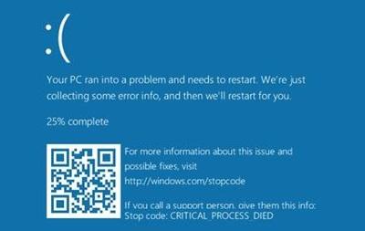 Microsoft змінила  синій екран смерті