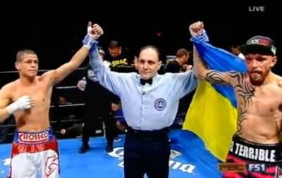 Мексиканець  Редкач вийшов на ринг з українським прапором