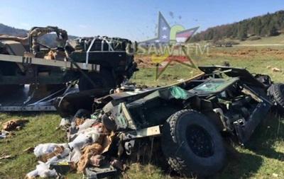 В Германии разбились три броневика армии США