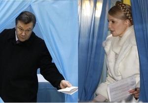 Украинцы зарубежья выбрали Януковича, жители 15 областей - Тимошенко