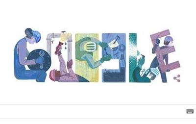 Google отметил Первомай праздничным дудлом