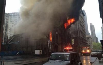 У Манхеттені горить сербський православний собор