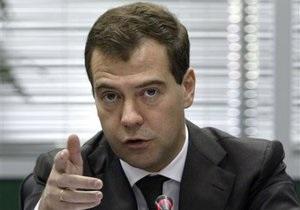 Медведев внес кандидатуры губернаторов двух областей РФ