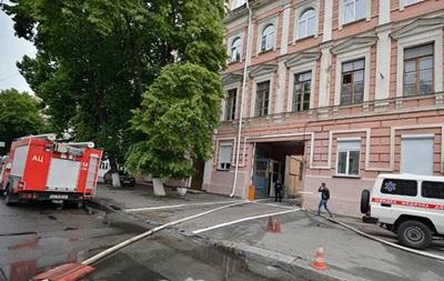 У будівлі поліції Києва сталася пожежа