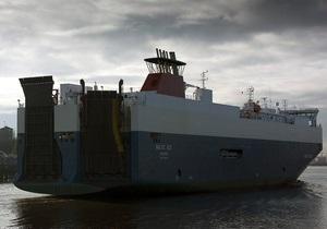 В Северном море затонуло судно, перевозящее автомобили