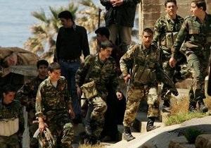 Операция сирийской армии против повстанцев провалилась, погибли семь солдат