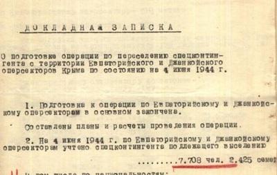 Обнародованы архивы о депортации крымских татар