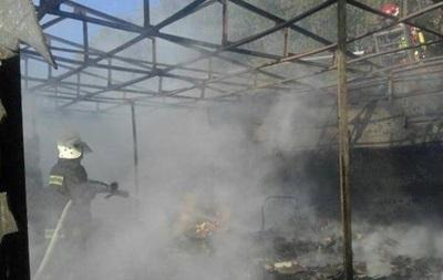 В Киеве горел крупнейший рынок