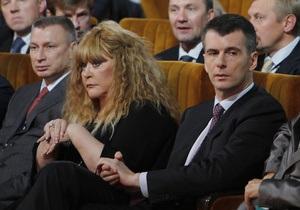 Пугачева пообещала найти жену миллиардеру Прохорову