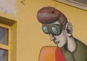 Стены киевских домов начали разрисовывать граффити