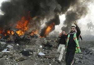 Палестинские боевики нанесли по Израилю ответный удар, повредив одно здание