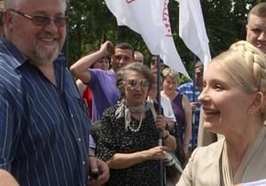 Тимошенко вышла на Крещатик пообщаться со сторонниками