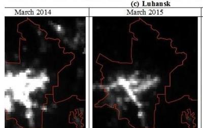 Як зруйнована економіка Донбасу: погляд зі супутника