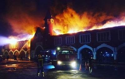 В Москве горело здание бывшего пивзавода
