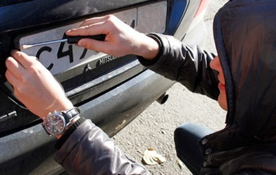 У Київській області масово крадуть номерні знаки