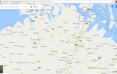 В Google пообещали вернуть российские названия на карту Крыма