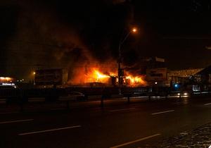 В Киеве произошел пожар на стройке одного из самых высоких зданий в Украине