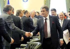 Ющенко и Стельмах рассказали банкирам о платежном балансе и ВВП