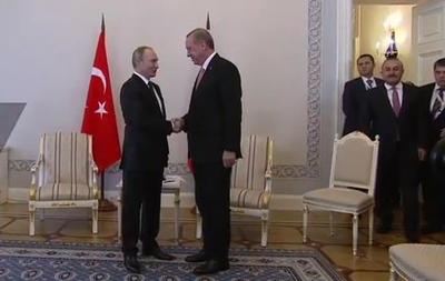 Встреча Путина и Эрдогана: онлайн трансляция